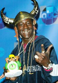 Flavor Flav at the press room for Motown 45.