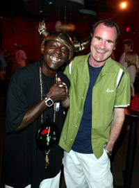 Flavor Flav and Adam Zelkind at the Mindless Entertainment wrap party.
