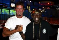 Milton Willis and Flavor Flav at the Mindless Entertainment wrap party.