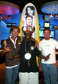 Michael Willis, Flavor Flav and Milton Willis at the Mindless Entertainment wrap party.