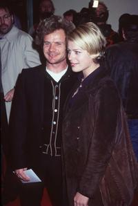 Flea and Amanda DeCadenet at the premiere of