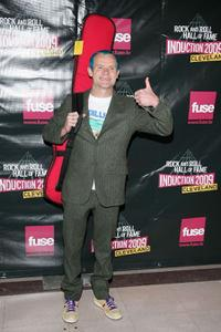Flea at the 24th Annual Rock and Roll Hall of Fame Induction Ceremony.