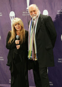 Singer Stevie Nicks and Mick Fleetwood at the 20th Annual Rock and Roll Hall of Fame Induction Ceremony.