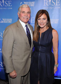 Greg Jenkins and Peggy Fleming at the New York premiere of