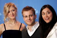 Siobhan Hewlett, Kevin Bishop and Dorka Gryllus at the photocall of