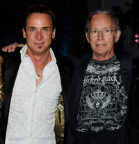 Colin Cunningham and Lance Henriksen at the after party of the California premiere of