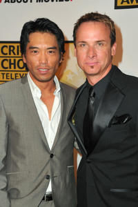 Peter Shinkoda and Colin Cunningham at the Critics' Choice Television Awards in California.