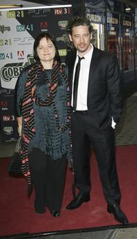 Dexter Fletcher and guest at the CobraVision Film Awards.