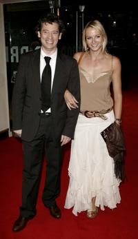 Dexter Fletcher and his guest at the UK premiere of
