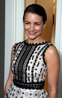 Kristin Davis at the opening of the new Oscar De La Renta Boutique.