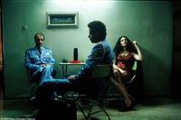 Sasson Gabai as Tewfiq, Ronit Elkabetz as Dina and Saleh Bakri as Haled in