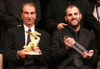 Sasson Gabai and Director Eran Kolirin at the closing ceremony of the 20th Tokyo International Film Festival.