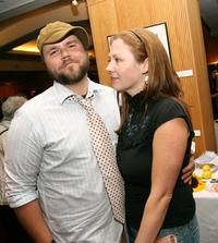 Tyler Labine and Carrie Ruzchiensky at the after party of the screening of