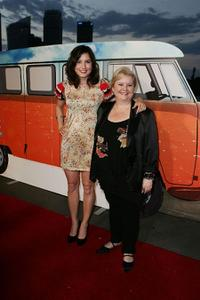 Missy Higgins and Magda Szubanski at the Sydney premiere of