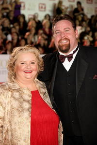 Magda Szubanski and Shane Jacobson at the 50th Annual TV Week Logie Awards.