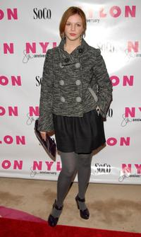 Amber Tamblyn at the Nylon magazine's 8th anniversary celebration.