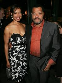 Gina Torres and Lawrence Fishburne at the after party of the 5th annual Tribeca Film Festival.