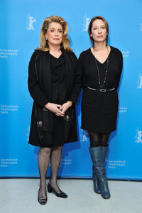 Catherine Deneuve and Emmanuelle Bercot at the photocall of