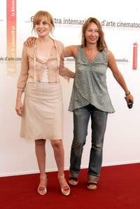 Emmanuelle Seigner and Emmanuelle Bercot at the photocall of