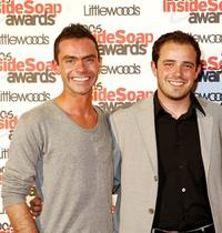 Daniel Brocklebank and Charlie Kemp at the Inside Soap Awards 2006.