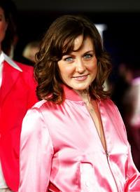 Amy Carlson at the Tommy Hilfilger H Collection Fashion Show.