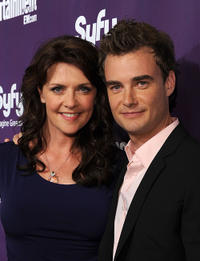 Amanda Tapping and Robin Dunne at the EW and SyFy party during the Comic-Con 2010.
