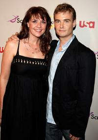 Amanda Tapping and Robin Dunne at the NBC Universal 2008 Summer Television Critics Association Press Tour All-Star party.