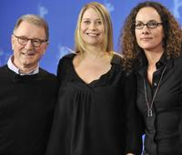Finn Nielsen, Trine Dyrholm and director Annette K. Olesen at the photocall of