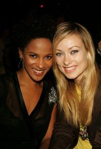 Megalyn Echikunwoke and Olivia Wilde at the Rock and Republic Fashion show.