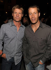 Joel Gretsch and Colin Ferguson at the EW and SyFy party during the Comic-Con 2010 in California.