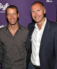 Colin Ferguson and SyFy president Dave Howe at the EW and SyFy party during the Comic-Con 2010 in California.