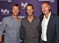Joel Gretsch, Colin Ferguson and SyFy president Dave Howe at the EW and SyFy party during the Comic-Con 2010 in California.