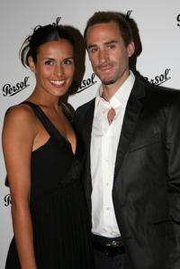 Mariadolores Fiennes and Joseph Fiennes at the Persol Collezione Suprema fashion show.