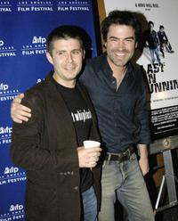 Rick Gomez and Ron Livingston at the premiere of