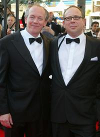 Directors Luc Dardenne and Olivier Gourmet at the 55th International Film Festival.