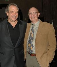 Dick Wolf and Dann Florek at the Hollywood Walk of Fame.