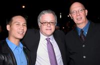 Dann Florek, B.D. Wong and Neal Baer at the party of all three