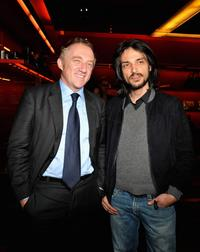 Francois-Henri Pinault and Vincent Martinez at the opening of a new YSL store.