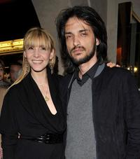 Clotilde Courau and Vincent Martinez at the opening of a new YSL store.