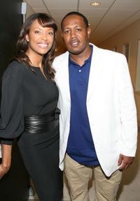 Aisha Tyler and Master P at the Women's Sports Foundation's Billie Awards.