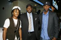 Romeo, Master P and Silkk Da Shoka at the Los Angeles premiere of