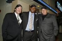 Alex LeMay, Master P and Jim Finkl at the Los Angeles premiere of