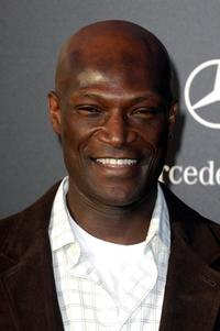 Peter Mensah at the Los Angeles antiques show opening night.