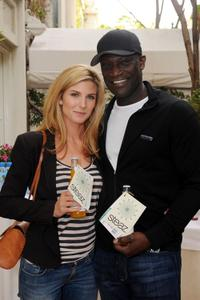 Viva Bianca and Peter Mensah at the DPA Golden Globes Gift Suite.