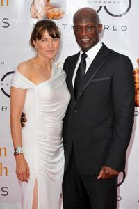 Lucy Lawless and Peter Mensah at the Closing Ceremony during the 2010 Monte Carlo Television Festival.