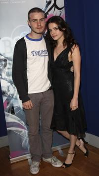 Roxane Mesquida and Brady Corbet at the premiere of
