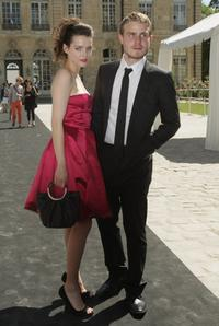 Roxane Mesquida and Brady Corbet at the Dior '09 Fall Winter Haute Couture fashion show.