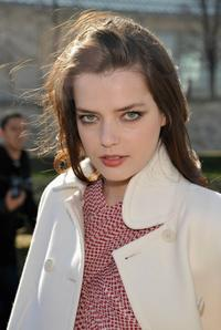 Roxane Mesquida at the Christian Dior Ready-to-Wear A/W 2009 fashion show during the Paris Fashion Week.
