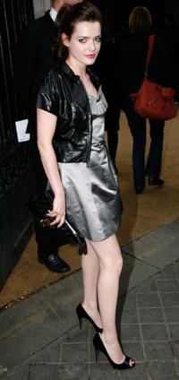 Roxane Mesquida at the Miu Miu Ready-to-Wear A/W 2009 fashion show during the Paris Fashion Week.