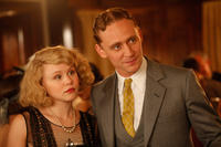 Alison Pill as Zelda Fitzgerald and Tom Hiddleston as F. Scott Fitzgerald in
